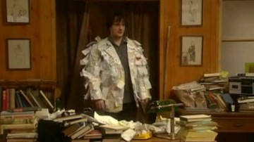 Bernard turns his tax receipts into quite a smart casual jacket